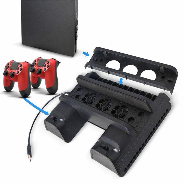 support ventilateur ps4 pro avec chargeur