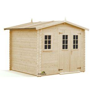 madeira abri de jardin en bois luby 6 6m2 28mm x. Black Bedroom Furniture Sets. Home Design Ideas
