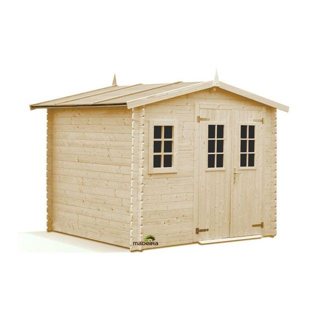 madeira abri de jardin en bois luby 6 6m2 28mm pas cher achat vente abris en bois. Black Bedroom Furniture Sets. Home Design Ideas