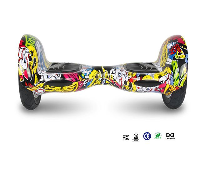 COOL AND FUN - Cool&FUN Hoverboard Bluetooth,Scooter électrique Auto-équilibrage,gyropode connecté 10 pouces hiphop/graffiti design