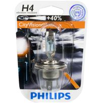 Philips - Ampoule phare CityVision Moto +40% H4 12V 60/55W P43T-38