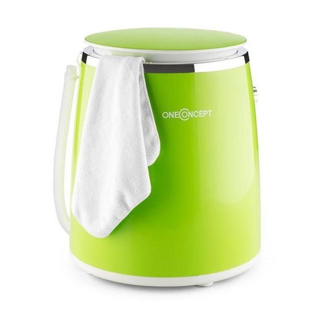 ONECONCEPT Ecowash-Pico Mini machine à laver avec essorage 3,5 kg 380 W - vert