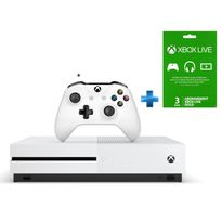 MICROSOFT - Pack Xbox One S 500GO nue + Abonnement 3 mois offert