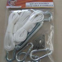 Easy for life - Kit accessoires de fixation pour voile d'ombrage Kit