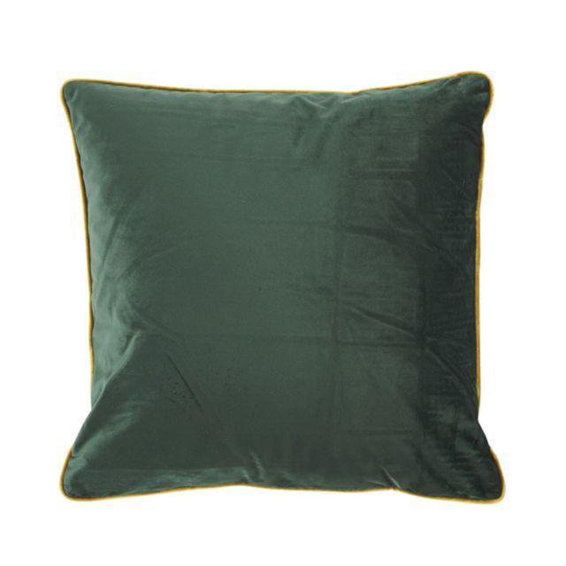 Athezza - Coussin Countra 45 x 45 cm - vert empire/bronze Bronze,Vert Foncé - 45cm x 45cm