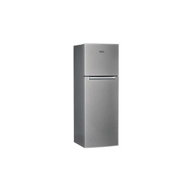 HOTPOINT HTM1722V -Refrigerateur congelateur haut-300 L 226+74 L -Froid brasse et statique congelateur-A+-L 60 x H 170 cm-Inox