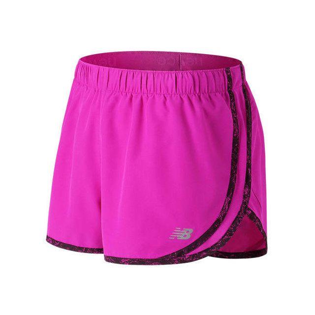 New Balance - Short Accelerate 2.5 Inch Short rose femme - pas cher Achat   Vente  Collants - RueDuCommerce 5e3a116e934