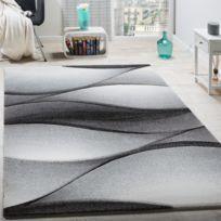 Paco-home - Tapis De Créateur Moderne Abstrait Vagues Effet Contours En Gris Anthracite 240X330