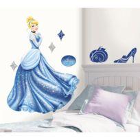 Mon Beau Tapis - Stickers Disney Cendrillon Géant Roommates Repositionnables 102x75cm