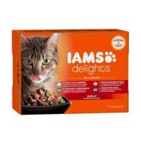 Iams Chat - Iams Delights multibox Saveurs de la Mer en gelée Sea Collection Toutes Races - 12x85 g - Pour chat adulte