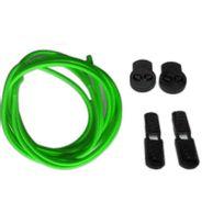 Neon - Kit lacets élastiques rond sans noeud vert fluo 80cm