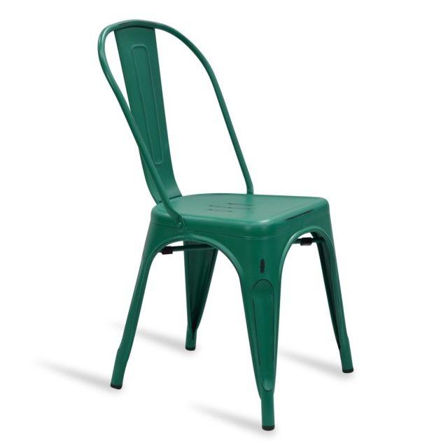 Novara Mobili - Chaise Lix Style Vintage Vert