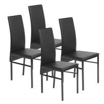 Beaux Meubles Pas Chers - 4 Chaises Noires