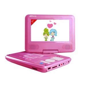 TAKARA - Lecteur DVD portable Rose rotatif 7'' VR122P