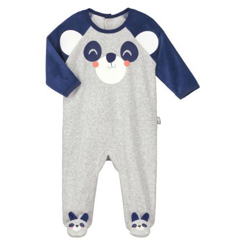 Taille 3 mois Pyjama b/éb/é /à motifs Moustache 62 cm