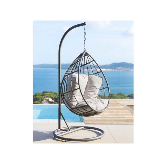 hesperide fauteuil suspendu merengue pas cher achat. Black Bedroom Furniture Sets. Home Design Ideas