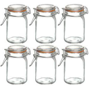 promobo lot 6 bocaux pot en verre herm tique anneau en silicone id al yaourt confiture 60ml. Black Bedroom Furniture Sets. Home Design Ideas