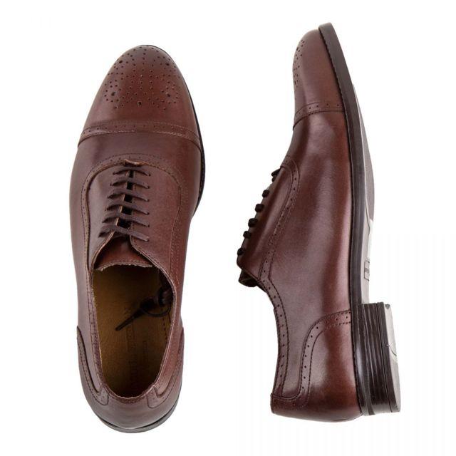 Mason & Freeman Chaussures Richelieu en cuir perforé Owen Homme