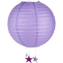 Alinéa - Alix Boule japonaise violette D35cm avec étoiles suspendues
