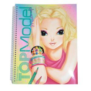 Top model album de coloriage visage sp cial make up - Album de coloriage top model ...