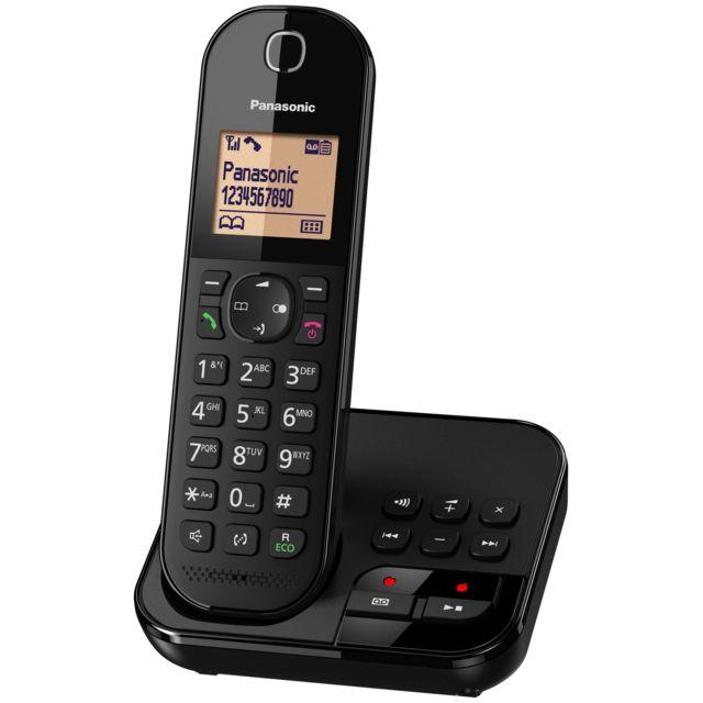 PANASONIC - Téléphone fixe solo avec répondeur - KX-TGC420FRB - Noir ... 8dfb24a31d7e
