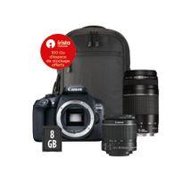 CANON - Appareil photo reflex - 1300D 18-55 + 75-300 + sacoche + Carte 8Go