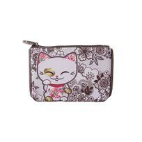 Mani - Porte-Monnaie the Lucky Cat 12 x 8 x 1cm : Modèle : Fleurs