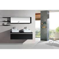 Rocambolesk - Magnifique ensemble meuble salle de bain complet mercure 2 vasques 2 miroirs