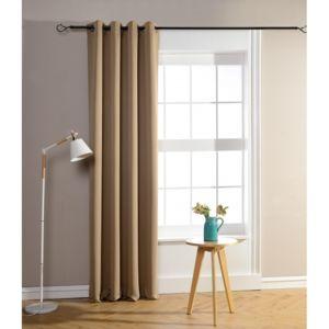soldes univers decor rideaux occultant beige fonc 140 x 260 cm pas cher achat vente. Black Bedroom Furniture Sets. Home Design Ideas