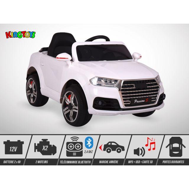 Kingtoys Voiture électrique enfant - 4X4 Q6 60W - Blanc