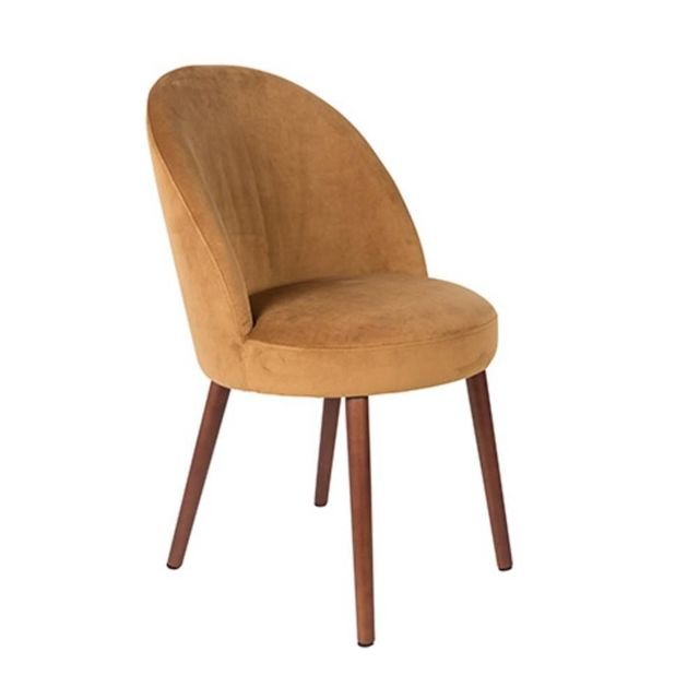 Inside 75 Fauteuil design scandinave Barbara velours camel