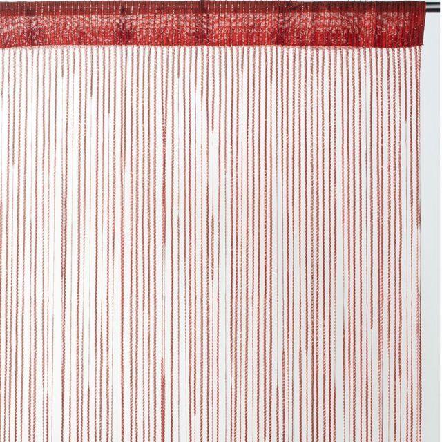 Best Interior - Rideau fils uni brillant - rouge - Dimensions ...