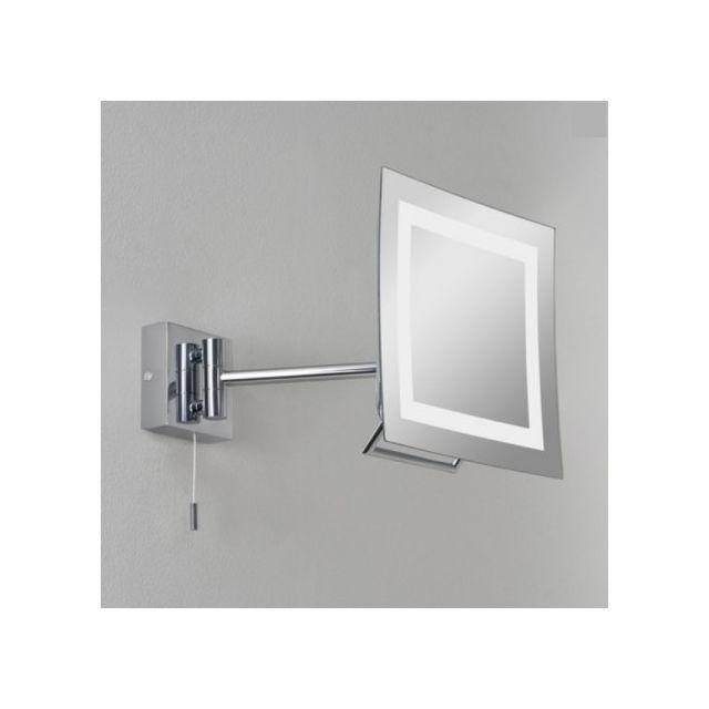 astro miroir grossissant lumineux mural niro ip44. Black Bedroom Furniture Sets. Home Design Ideas