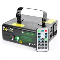 BEAMZ - Cupid Laser double faisceau 18 W RG 12 Gobo 6 DMX télécommande IR