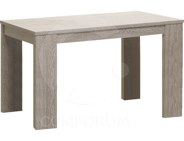 Comforium table de salle manger contemporaine extensible 160 cm coloris ch ne pas cher for Carrefour table a manger