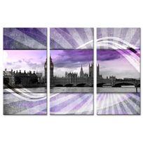 Declina - Tableau triptyque photo Londres sur toile imprimée