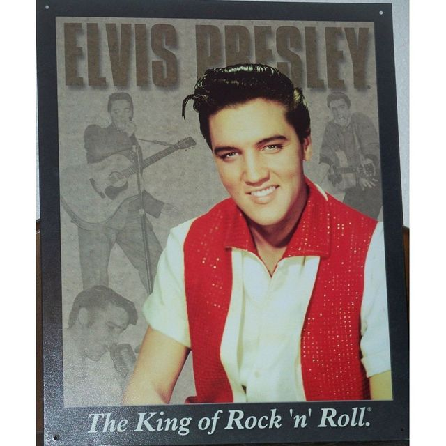 Universel - Plaque elvis presley the king rock roll habit blanc et rouge ad3e1c3fbf4