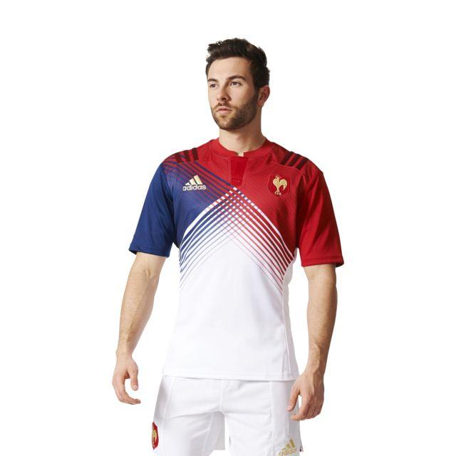 Adidas performance Maillot De Rugby France ExtÉrieur blanc