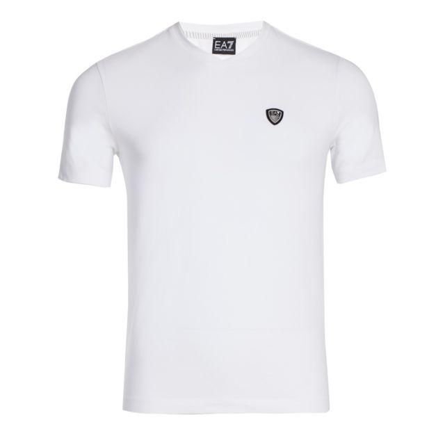 Ea7 - T-shirt Train Soccer M Tee Vn St 6YPT94PJ18Z1100 Blanc - pas cher  Achat   Vente Tee shirt homme - RueDuCommerce d14adffc336