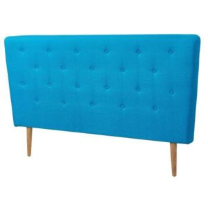 aucune scandi tete de lit capitonn e scandinave tissu bleu turquoise l 160 cm pas cher. Black Bedroom Furniture Sets. Home Design Ideas