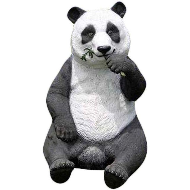 TEXARTES Panda en résine taille réelle