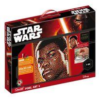 Quercetti - Star Wars - 4 Tableaux Pixel Art Finn - 5800 boutons