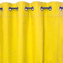 Mon Beau Tapis - Rideau Elsa 145x250cm, Jaune • 100% coton
