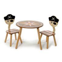 Momo for Kids - Ensemble table + chaises Pirate