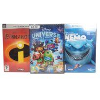 Thq - Pack De 3 Jeux Disney + Nemo + Les Indestructibles - Jeux Pc