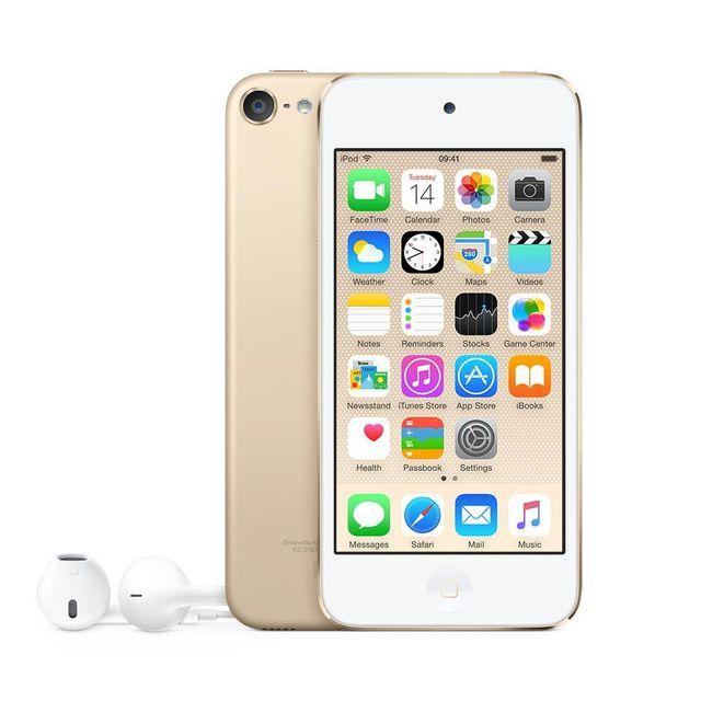 APPLE Ipod Touch - 128 Go - MKWM2NF/A - Or Toujours plus coloré, plus performant et plus puissant, l'iPod touch place le divertissement à un niveau encore jamais égalé ! Idéal pour emporter partout toute la musique que v