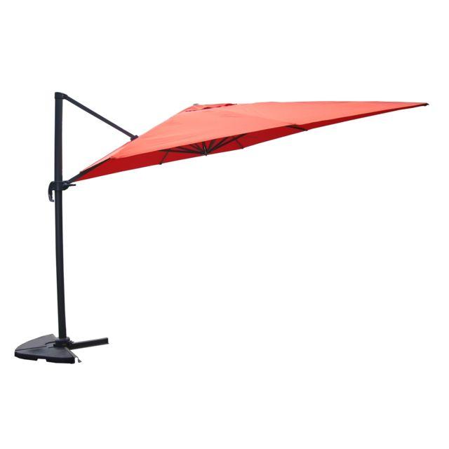 Concept usine cesare terracotta parasol d port - Parasol deporte rectangulaire 3x4m ...