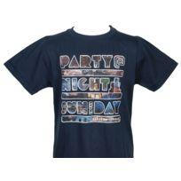 Teidem - Tee shirt manches courtes Party noir mc tee cadet Noir 87430