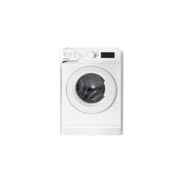 Indesit Mal Posable, Front, My Time, Blanc, 7 Kg, 1400 Trs, A+++, 52 L, Moteur - Mtwe71483wfr