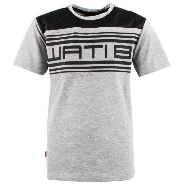 8825d8a0b6452 Wati B - Lincoln Tee Shirt Mc Garcon - Taille 6 ans - Gris - pas cher Achat  / Vente Tee shirt enfant - RueDuCommerce